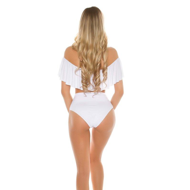 bikini mit volant und high waist h schen 34 99. Black Bedroom Furniture Sets. Home Design Ideas